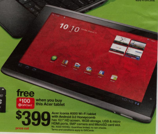 Android 3 Deal of the Year: Acer Tab for Under $300